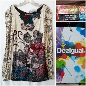 Desigual I Feel The Rainbow Top